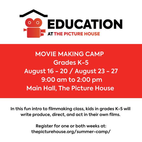 Movie Making Camp for Grades K-5